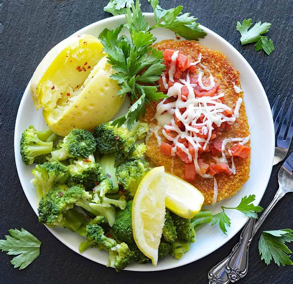 Vegan Chickpea Parmesan - Living Vegan